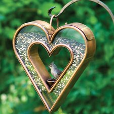 Heart Fly Thru Decorative Bird Feeder