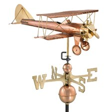 Biplane Weathervane