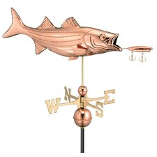 <strong>Good Directions</strong> Bass with Lure Weathervane