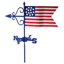 Cottage Weathervane Americana Flag