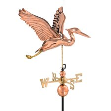<strong>Good Directions</strong> Heron Weathervane with Roof Mount