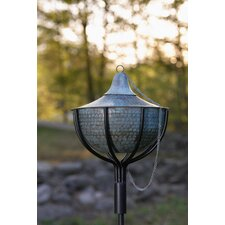 Hammered Garden Torch