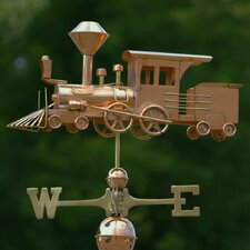 Full Size Weathervane Locomotive in Polished