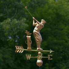 <strong>Good Directions</strong> Full Size Weathervane Golfer