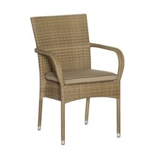 Kalahari Flat Latte Stacking Arm Chair