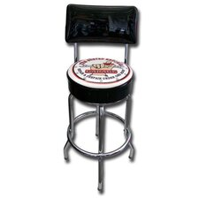 Busted Knuckle Garage Backrest Stool with Swivel