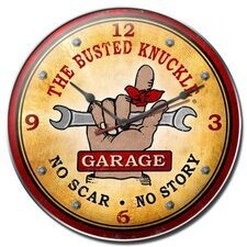 "<strong>Almost There</strong> 14"" Busted Knuckle Garage Wall Clock"
