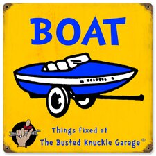 Busted Knuckle Garage Kid's Vintage Boat Sign