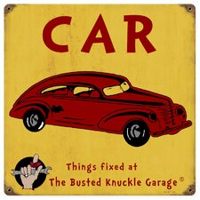 <strong>Almost There</strong> Busted Knuckle Garage Kid's Vintage Automobile Sign