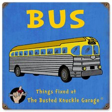 Busted Knuckle Garage Kid's Bus Vintage Advertisement
