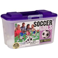 <strong>Kaskey Kids</strong> Soccer Board Game with Girls (Set of 30)