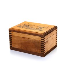 Mini Wooden Box with Two Trophy Deer Print