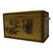 Standard Accessory Box With Rope Handles WithWhitetail Deer Print