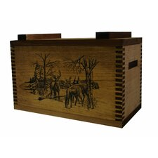 <strong>Evans Sports</strong> Standard Storage Box With Winter Deer Print