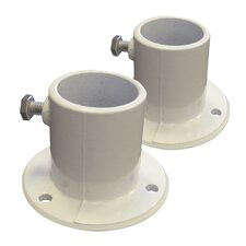 Deck Flanges for Above Ground Pool Ladder (Set of 2)