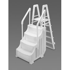 "24"" Above Ground Simple Step with Outside Ladder"