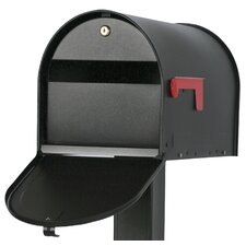 Locking Post Mount Rural Mailbox