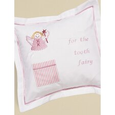 Funky Fairy Tooth Fairy Cotton Pillow Cover with Tooth Pocket