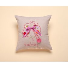 """Tooth Fairy"" Living Life Cotton Pillow"