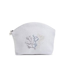 <strong>Jacaranda Living</strong> Coral Duck Egg Blue Cosmetic Bag