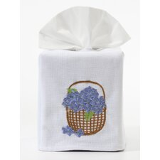 <strong>Jacaranda Living</strong> Hydrangea Basket Tissue Box Cover
