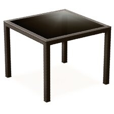 "37"" Miami Resin Wickerlook Square Dining Table"