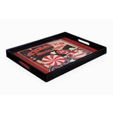 Popcorn Movie Night Rectangle Tray with Handles