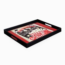 Popcorn Double Feature Rectangle Tray with Handles