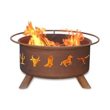 <strong>Patina Products</strong> Western Cowboy Fire Pit