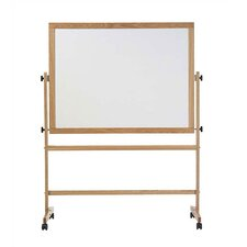 Freestanding Reversible Boards - Pro-Rite Markerboard / Natural Tan Cork - Oak Frame