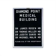 Wall-Mounted Open-Face Directory Boards - Aluminum