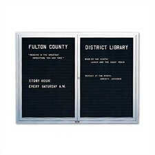 Wall-Mounted Deluxe Enclosed Directory Boards - Aluminum