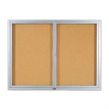 <strong>Marsh</strong> Deluxe Enclosed Bulletin Boards - Aluminum Frame
