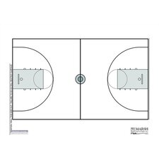 Magnetic Dry-Erase Coaching Aides Mat - Basketball