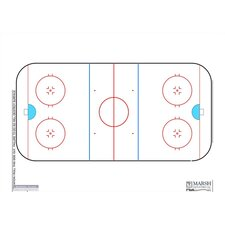 Magnetic Dry-Erase Coaching Aides Mat - Hockey