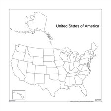 <strong>Marsh</strong> Magnetic Dry-Erase Teaching Aides Mat - United States Map
