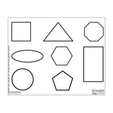 Magnetic Dry-Erase Teaching Aides Mat - Shapes Graphic