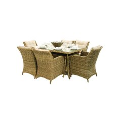 Winchester 6 Seater Rectangular Armchair Dining Set