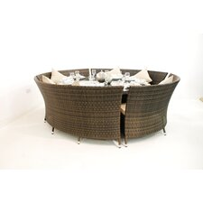 Dallas 10 Seater Oval Bench Set