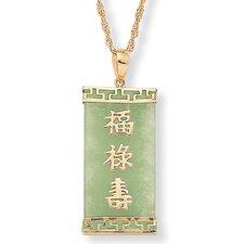 14k Gold Jade Pendant