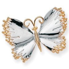 <strong>Palm Beach Jewelry</strong> Silvertone Butterfly Pin