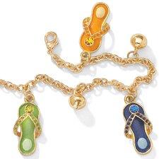 14k Gold Plated Flip-Flop Ankle Bracelet