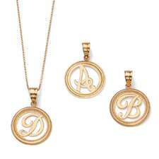 <strong>Palm Beach Jewelry</strong> 14k Gold Initial Pendant