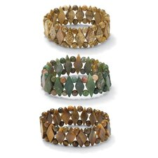 Gemstone Bracelets (Set of 3)