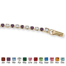 "<strong>Palm Beach Jewelry</strong> 7.25"" Gold Plated Birthstone Bracelet"