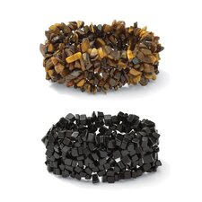 Onyx and tiger's-Eye Bracelet Set