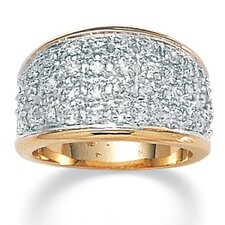 <strong>Palm Beach Jewelry</strong> Gold Plated Cubic Zirconia Pave Ring