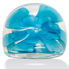 Baby Blue Glass Dome Ring