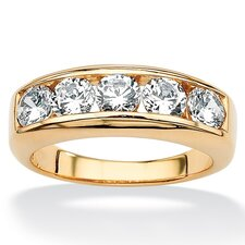<strong>Palm Beach Jewelry</strong> 18k Gold/Silver Men's Cubic Zirconia Ring
