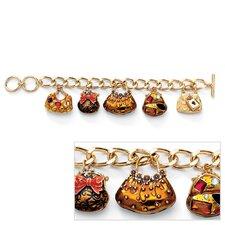 Goldtone Crystal Handbag Heaven Bracelet